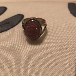 Jewelry - Sterling Silver Rose Cameo Ring